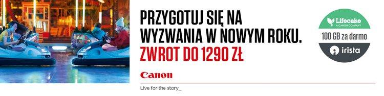 Canon zwraca gotówkę przy zakupach nawet do 1290 zł -