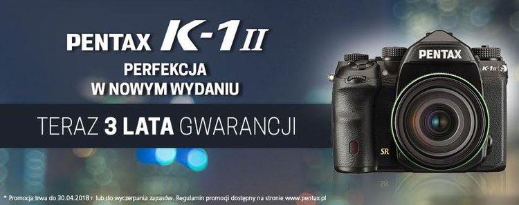 Pentax K-1 II z gwarancją na 3 lata -