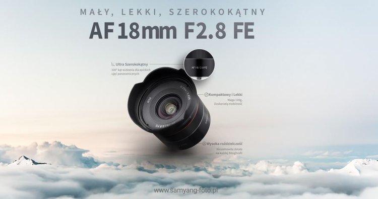 Samyang AF 18 mm f/2.8 FE. Szeroki kąt dla pełnej klatki w niezłej cenie -